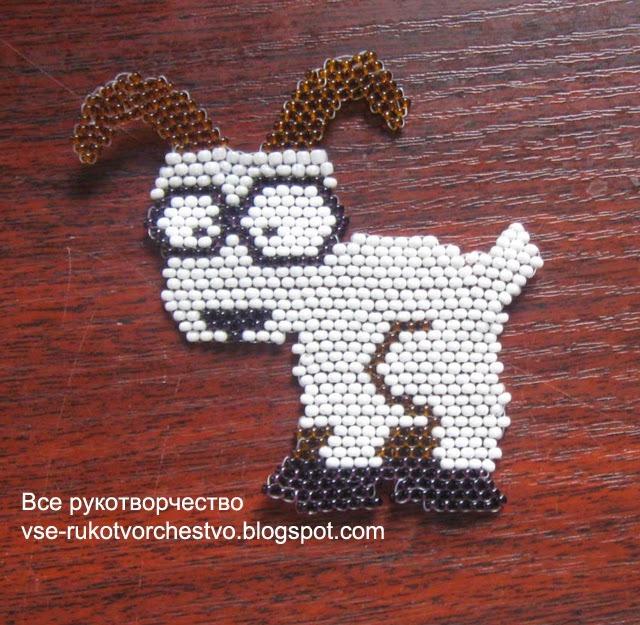 Схема из бисера коза в обучающем мастер-классе (фото)