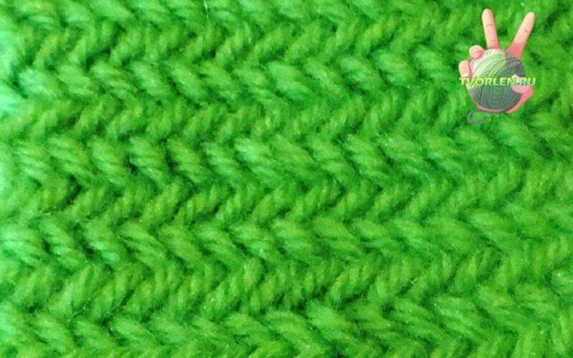 Как связать узор елочка спицами разными способами по схеме с описанием