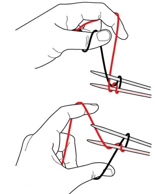 Набор петель спицами по видео урокам