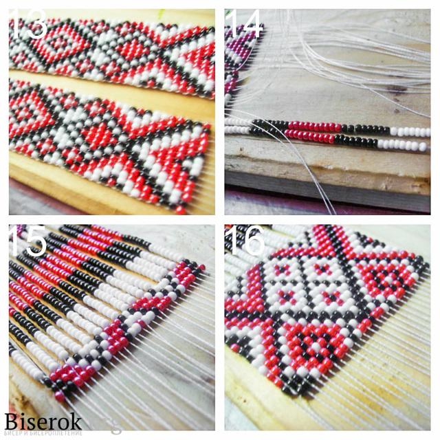 Мастер-класс плетения гердана из бисера