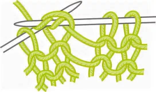 Пышная резинка спицами по схеме и подробным описание вязания в фото-видео МК