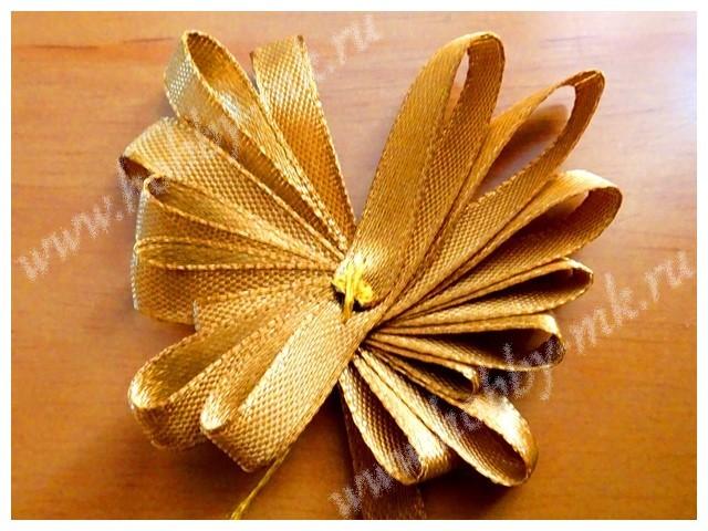 Мастер класс канзаши бабочка из ленточек (фото и видео)