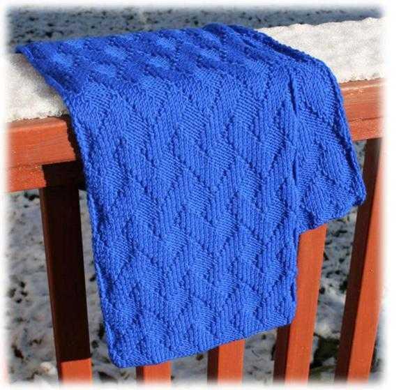 Вяжем шарф спицами по схемам и видео-урокам