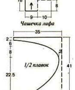 Вязанные купальники спицами: выкройки и схемы