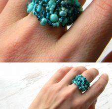 Кольцо из бисера своими руками по схеме с фото и видео мастер-классом