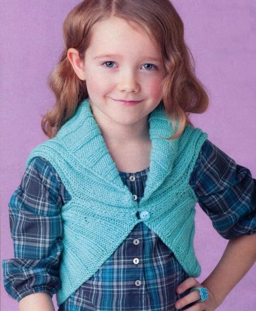 Техника вязания спицами болеро для девочки с описанием и схемой