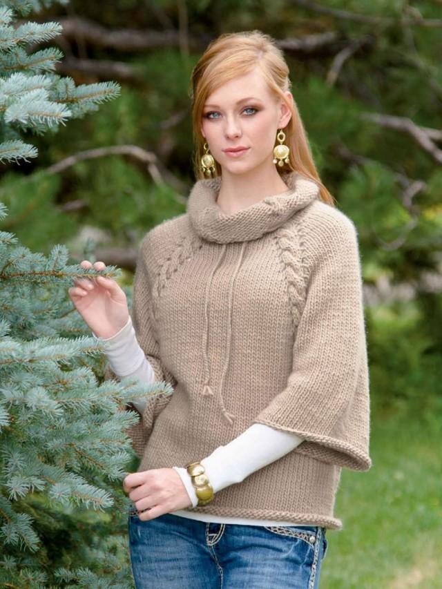 Вязание свитера регланом сверху с подробным описанием и фото-видео мастер-классом