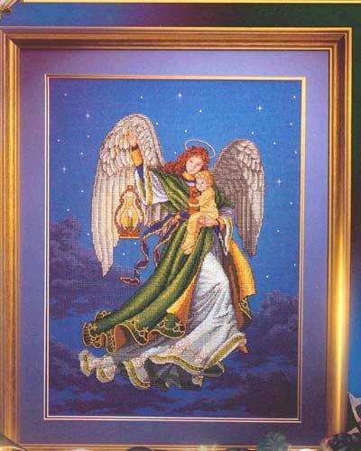 Вышивка ангелочки крестом (схемы и фото)