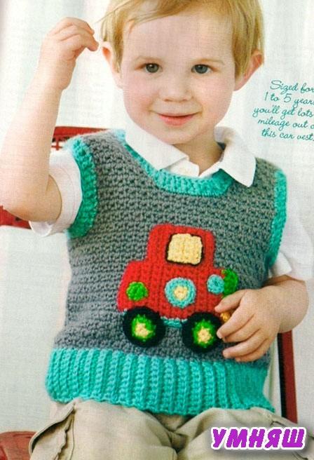 Жилетка для мальчика спицами с пошаговым описанием и видео