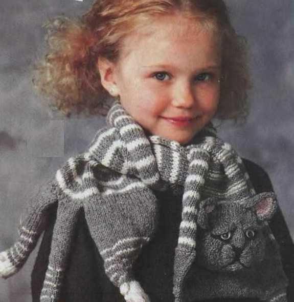 Вязание детского шарфа спицами по схеме и фото-видео МК