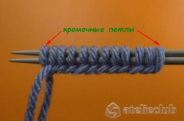 Полая резинка вязанная спицами в фото и видео уроках