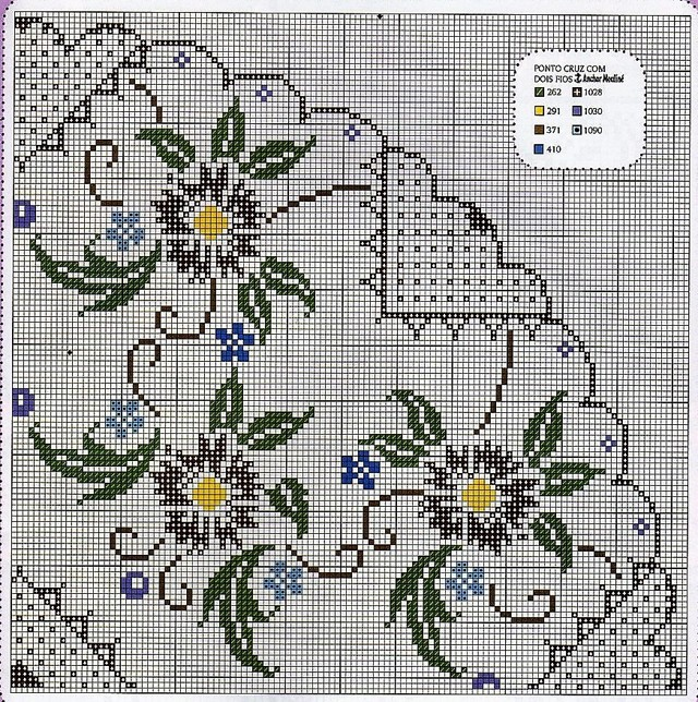 Схемы скатерти для вышивки крестом и подробные уроки для начинающих