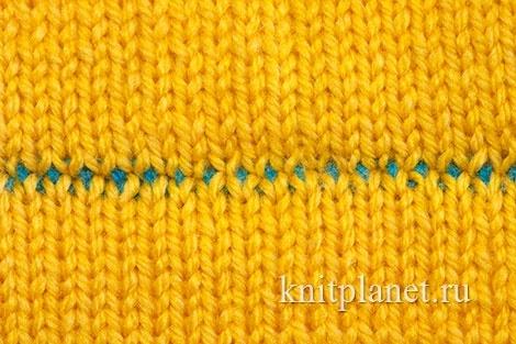 Трикотажный шов в вязании спицами пошаговое выполнение по фото и видео МК