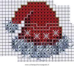 Новогодние схемы вышивки крестом картин и изделий