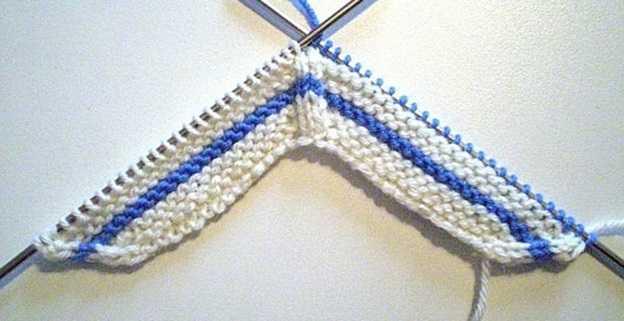 Вязание спицами пинеток в виде кед для малыша