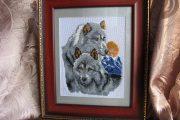 Вышивка бисером волки в схемах