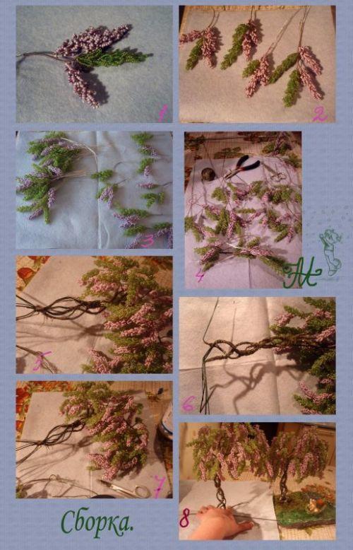 Нарциссы из бисера с помощью пошагового фото мастер-класса и схемами плетения