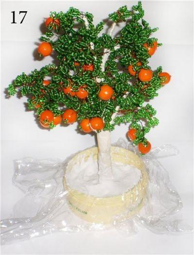 Апельсиновое дерево из бисера: варианты плетения (фото)