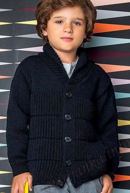 Вяжем спицами кофту для мальчика по фото и видео мастер-классу
