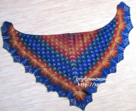 Шаль Холден спицами по схеме с описанием вязания