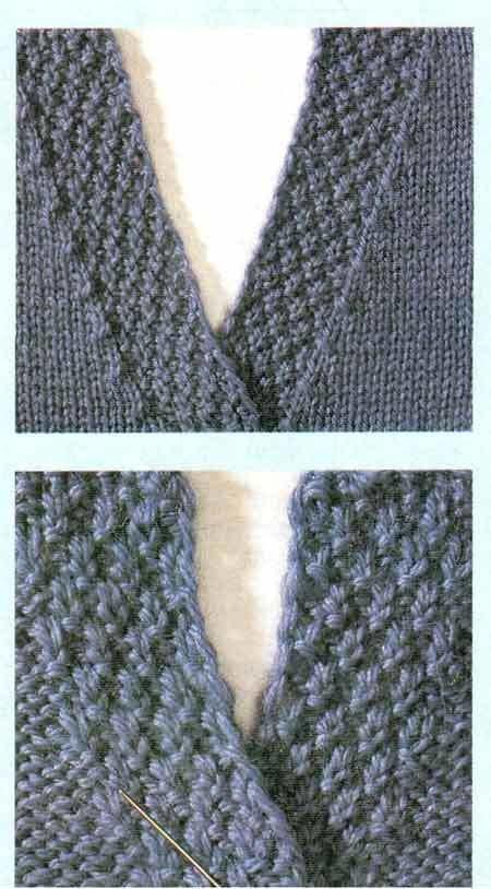 Осваиваем вязание горловины спицами по детальным мастер-классам