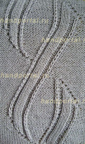 Рельефные узоры спицами: применение и особенности схем