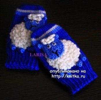 Варежки для малышей спицами в детальном фото и видео мастер-классе