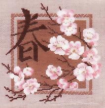 Вышивка крестом схемы пейзаж по временам года