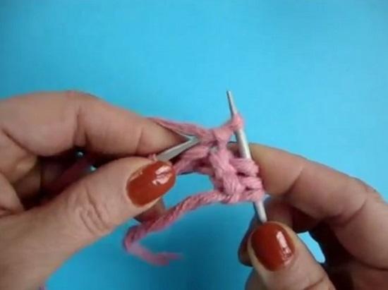 Американская резинка вязаная спицами по схеме и видео уроку