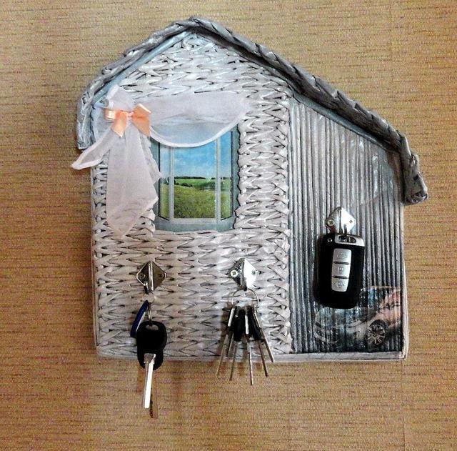 Декупаж ключницы: уроки декора предметов (фото и видео)