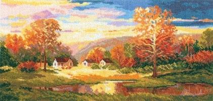Вышивка крестом осень в схемах и видеообзорах готовых наборов