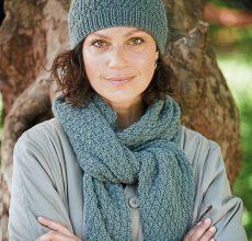 Узоры для шарфа вязанного спицами в схемах и фото мастер-классах