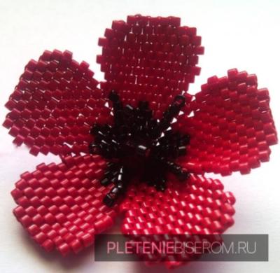 Кирпичное плетение бисером для начинающих с пошаговым фото мастер-классом