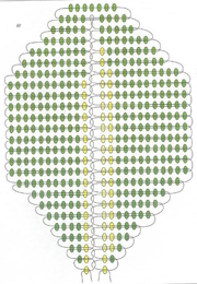 Примула из бисера в корзинке (схема)