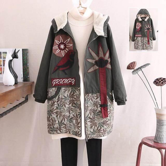 Вышивка на пальто в фото мастер-классе и видео уроках