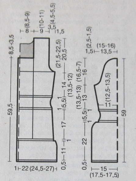 Жакеты вязаные спицами со схемами и подробным описанием