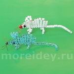 Плетем мышь из бисера по схеме и подробное описание для начинающих