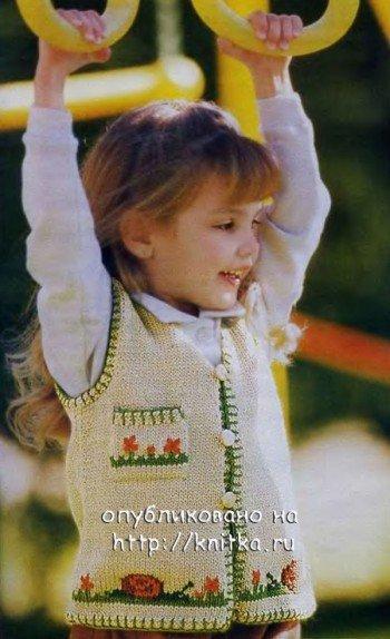 Жилетка для девочки спицами: модели для вязания (схемы)