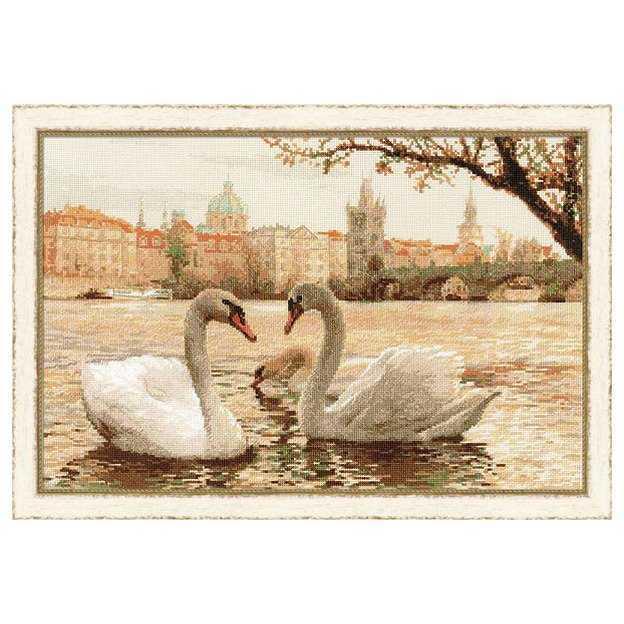 Вышивка крестом лебеди по бесплатным схемам