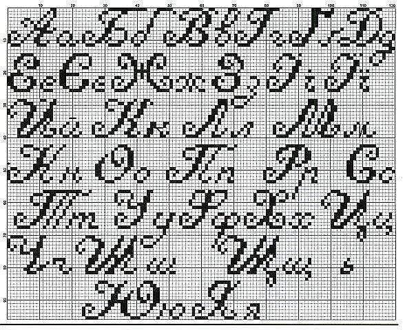Вышивка буквы русского алфавита схемы крестом