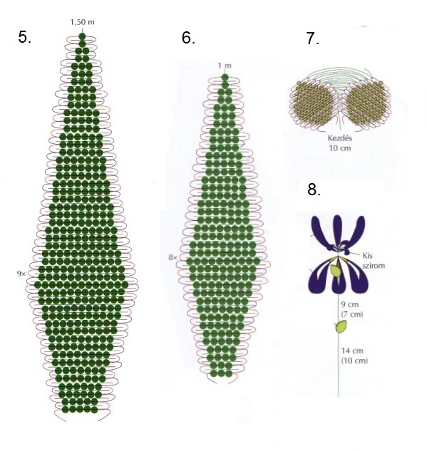 Вышивка ирисов бисером в схемах