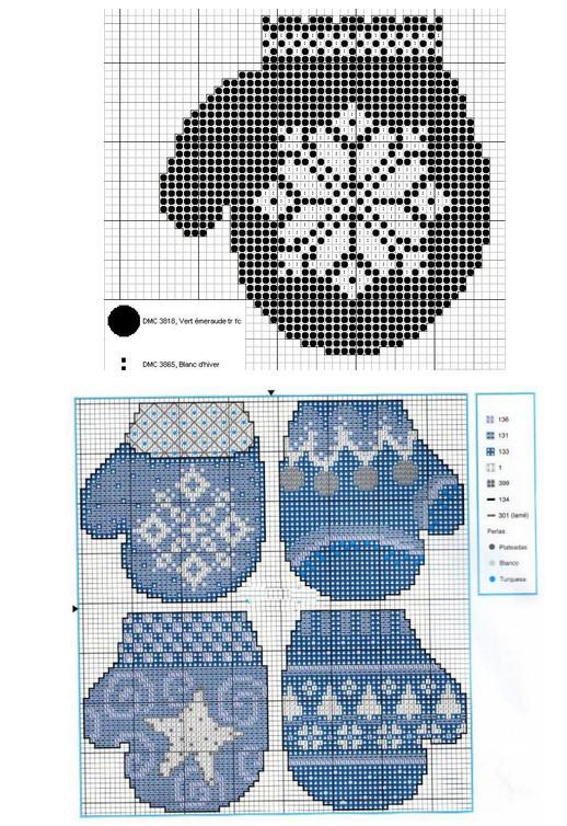 Вышивка крестом снегири и красивая подборка схем
