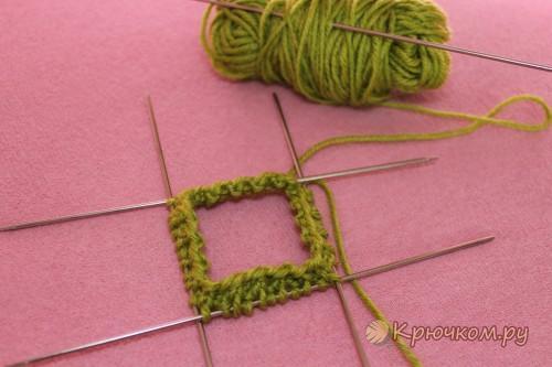 Вязание носочков спицами для малышей по схеме